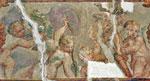I puttini attribuiti a G. Campi nella sala al pianterreno della Rustica (foto Il Vascello)