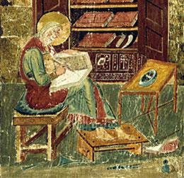 Un traduttore in una miniatura del XIII secolo